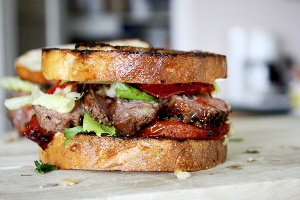 Roasted Garlic Steak Sandwich | BS' in the Kitchen